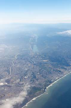 Interstate 280 from the air. (San Francisco)