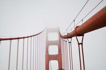A foggy Fourth of July on the Golden Gate. (San Francisco)