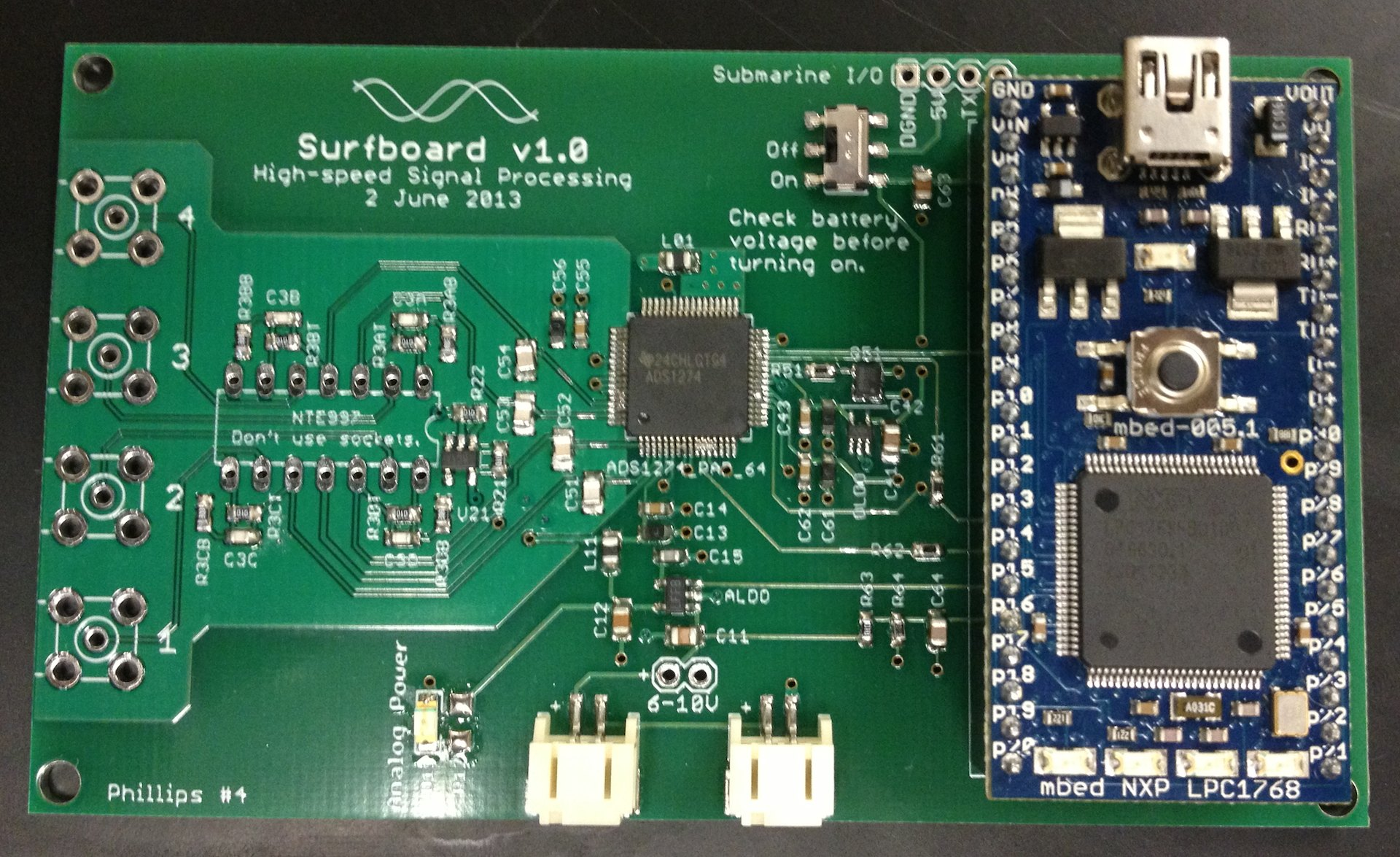 The Surfboard circuit board